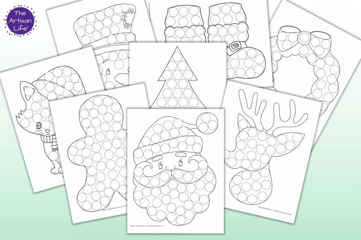 dot marker Christmas printables for toddlers