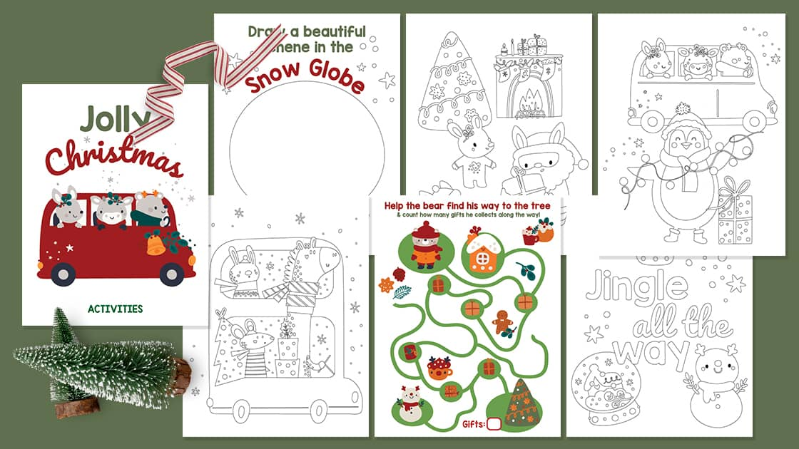 Christmas activity pack for toddlers and preschoolers