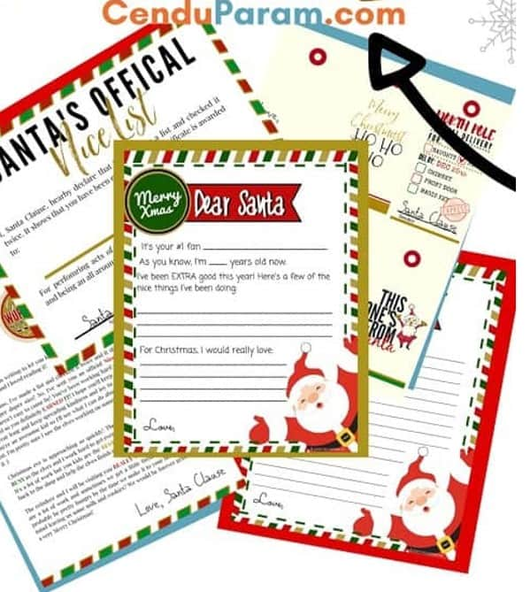 santa wishlist Christmas activity for preschoolers