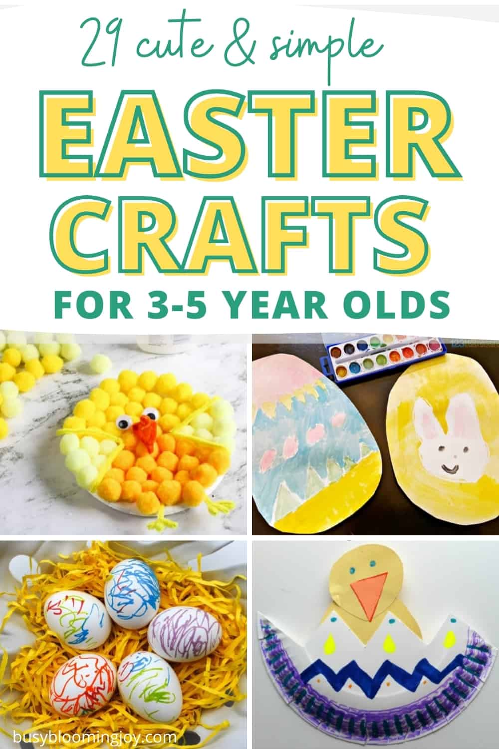 32+ Simple Easter crafts for toddlers (minimal prep, minimal mess = minimal stress!)