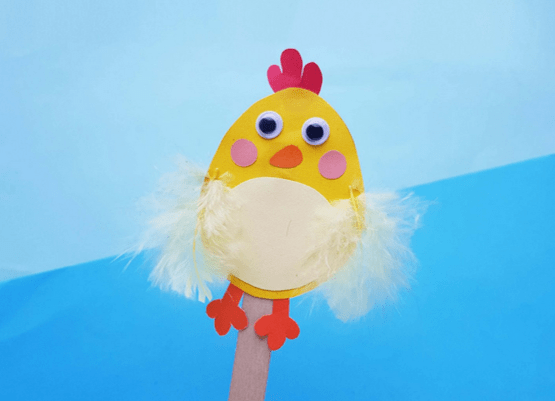 Easter chick on a stick from Two Kids And A Coupon