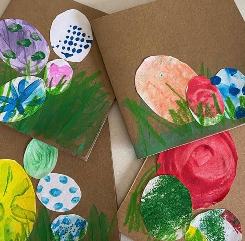 Toddler Easter crafts and cardsfrom @glassonthegrass