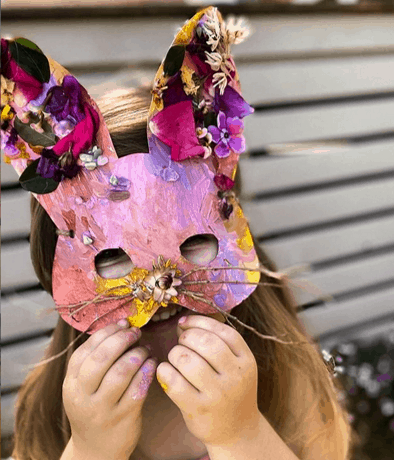 Easter bunny nature mask from @bayareatoddlers