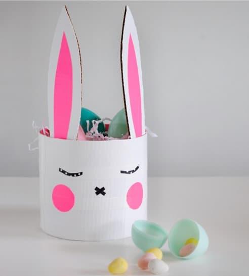Easter bunny basket for preschoolers form Mer Mag Blog