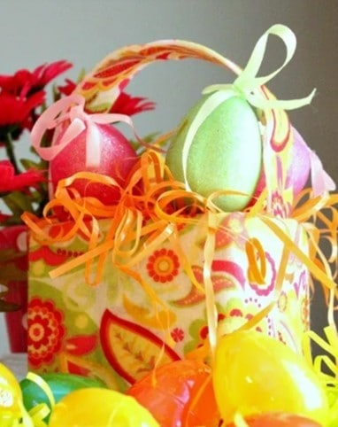 Lilly Pulitzer inspired Easter basket craft from Pink Fortitude