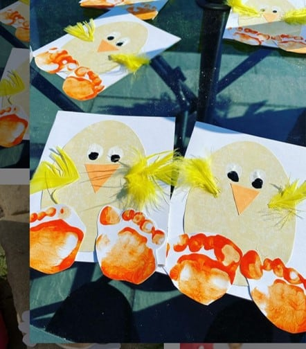 Easter craft for toddlers from @theincredibleadventuresofkit