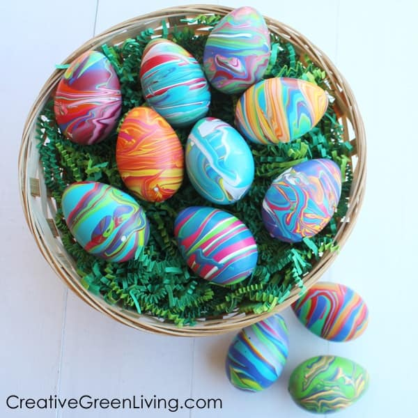Marbled Easter eggsfrom Creative Green Living