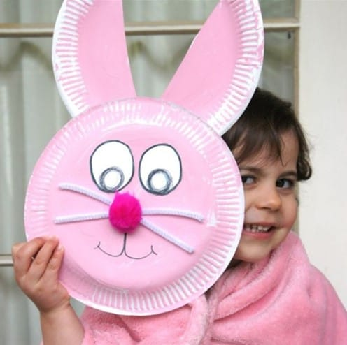 Paper plate Easter craft for toddlers from @tospitipougelaei.edu.eu