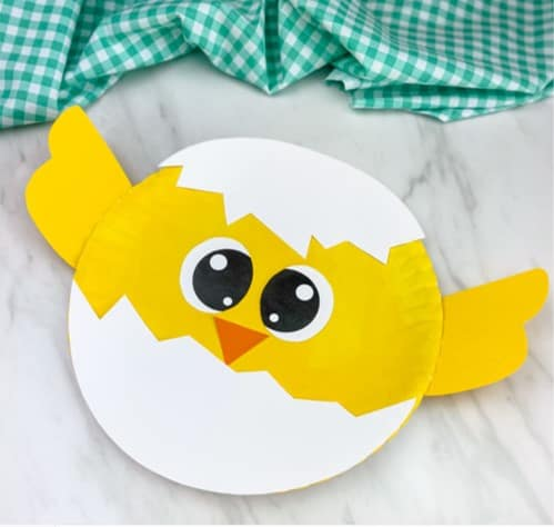 Paper plate chick craft from Simple Every Day Mom