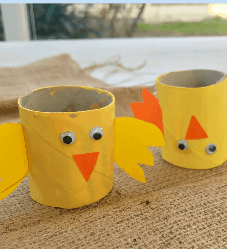 TP Easter craft for toddlers from Daisies and Pie