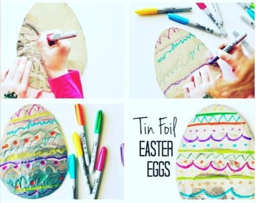 Tin foil Easter egg craft from @Tin foil Easter egg craft