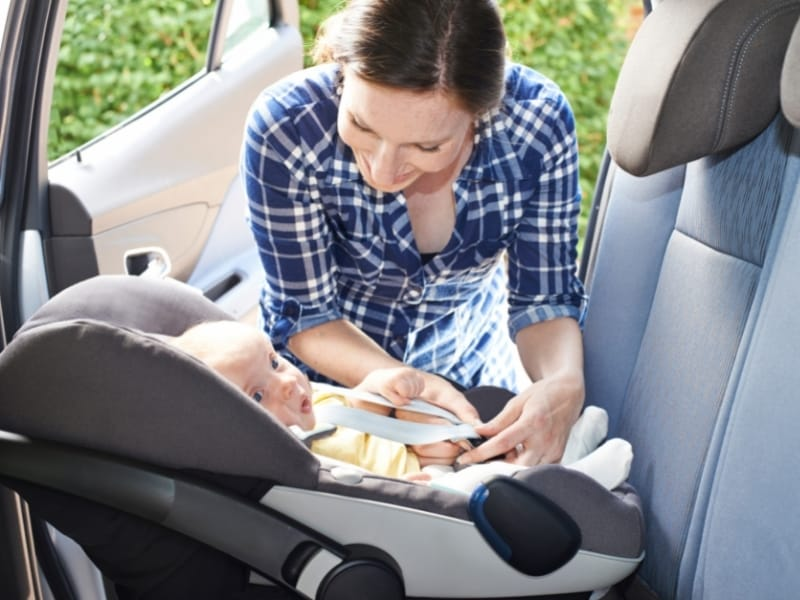 Wondering when it's safe to travel with a newborn by car? for short journeyst it's safe from birth but for longer journeys wait until baby is 2-3 months old