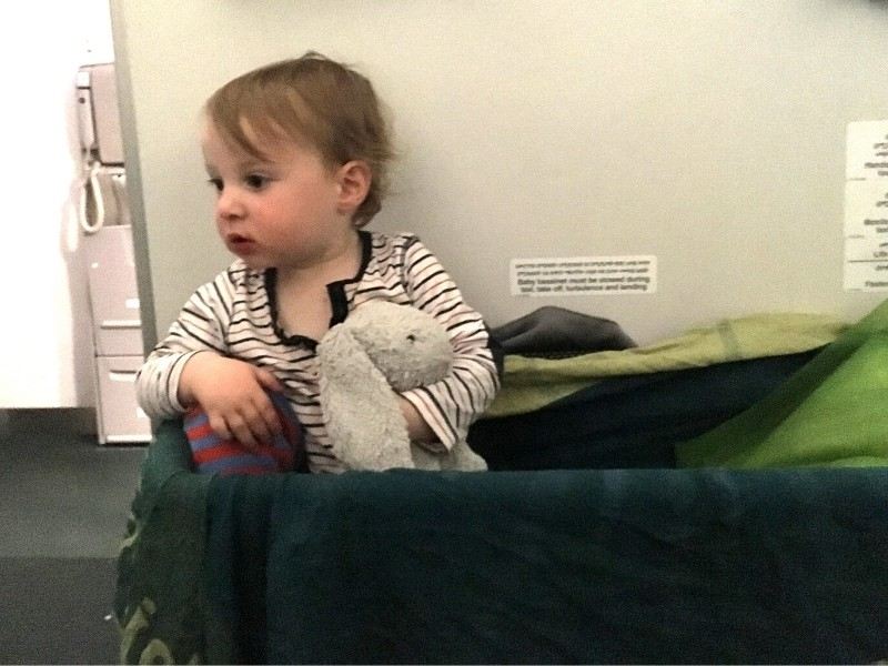 bassinets are really useful onboard when travelling with a newborn by plane