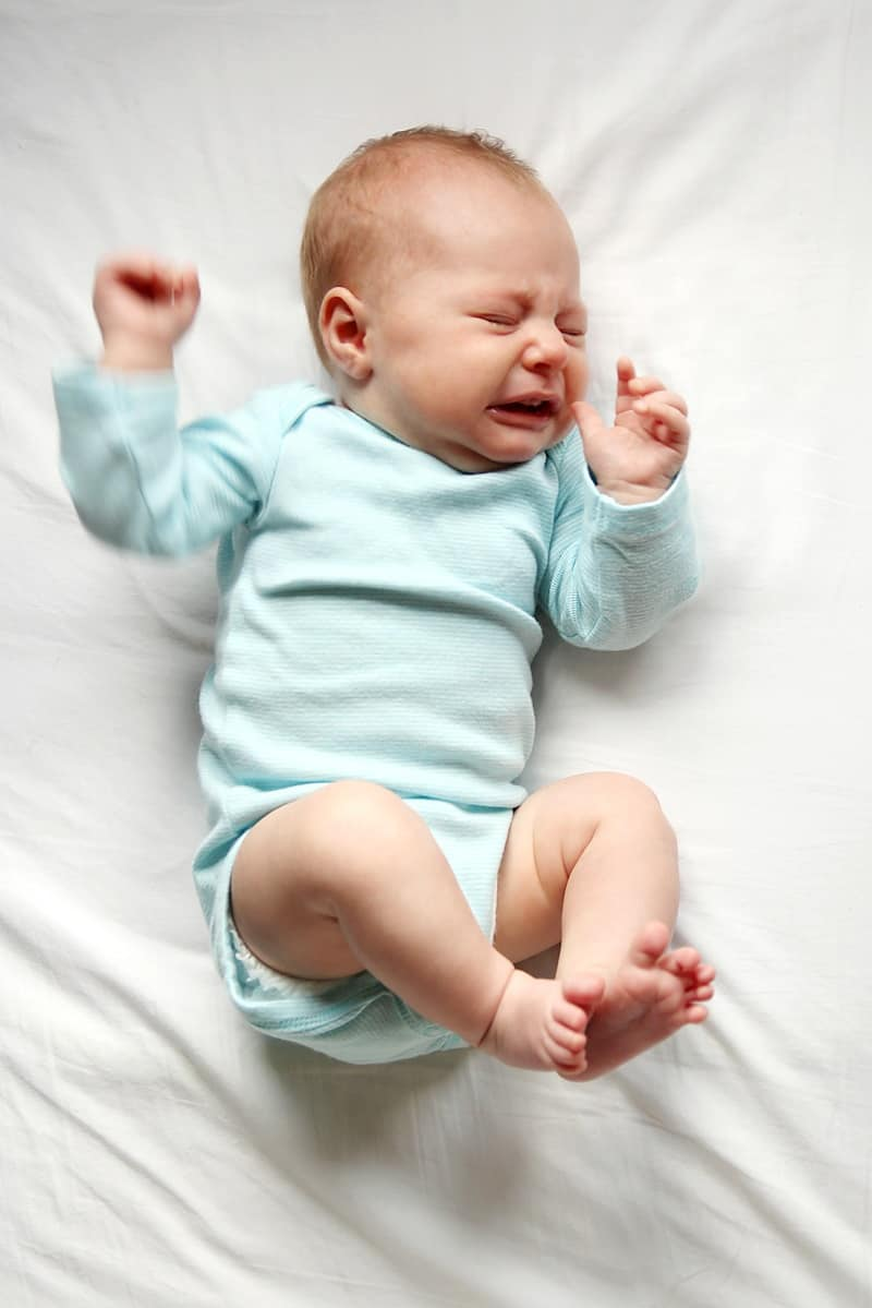 Newborn constipation can be symptomised by extreme discomfort