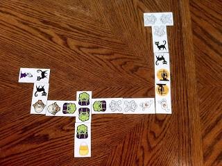 toddler Halloween party favor idea - memory match